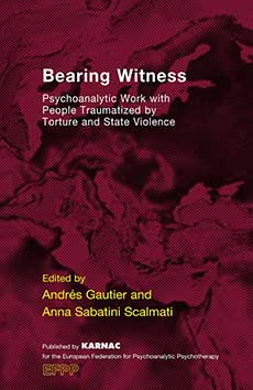 Cover -Bearing Witness Psychoanalytic Work with People Traumatised by Torture and State Violence