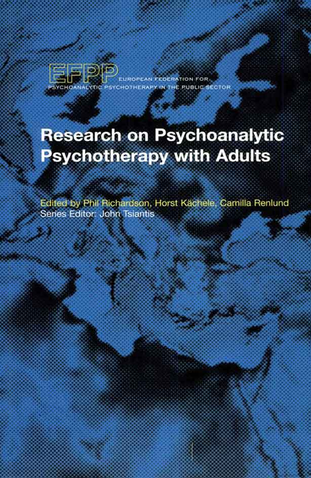 Cover - Research on Psychoanalytic Psychotherapy with Adults